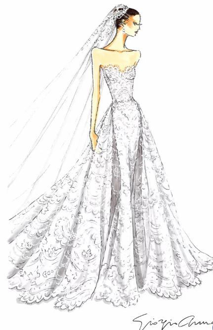 Кэтрин Шварценеггер сменила 2 свадебных платья от Армани за время торжества - image3