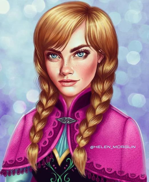 Украинская художница представила знаменитостей в роли диснеевских принцесс - image4
