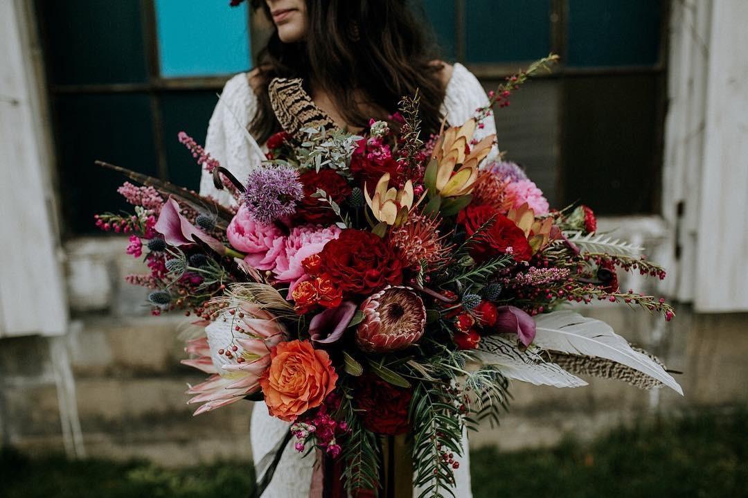 Свадебные букеты для самых красивых невест: модные тенденции 2019 | 41