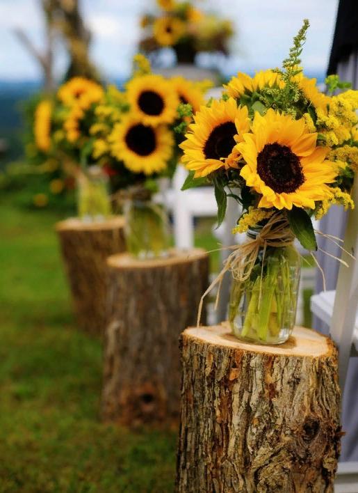 Свадебный декор из подсолнуха для самой солнечной свадьбы - image5