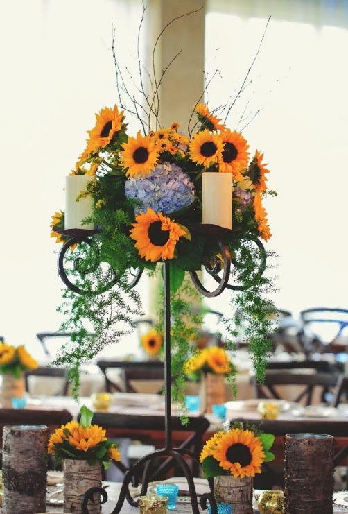 Свадебный декор из подсолнуха для самой солнечной свадьбы - image6