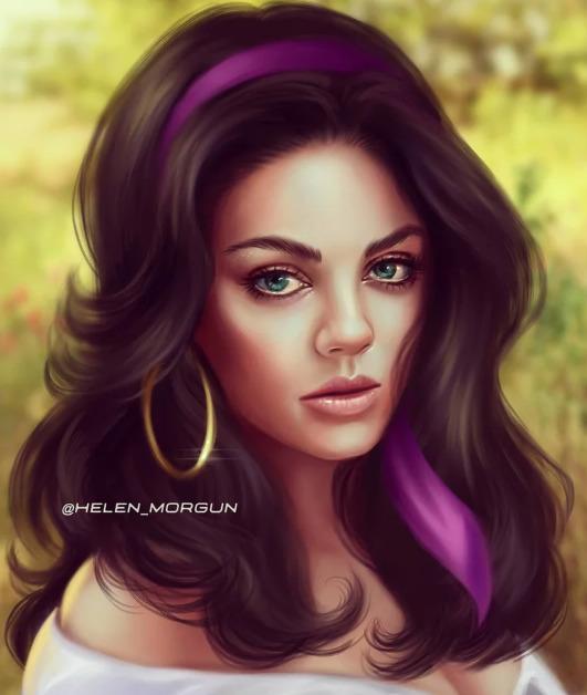 Украинская художница представила знаменитостей в роли диснеевских принцесс - image7