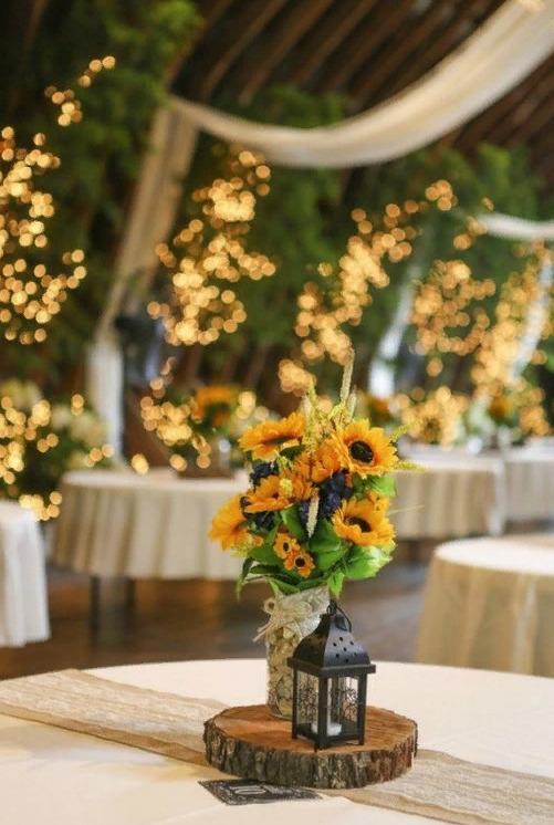 Свадебный декор из подсолнуха для самой солнечной свадьбы - image8