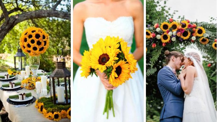 Свадебный декор из подсолнуха для самой солнечной свадьбы